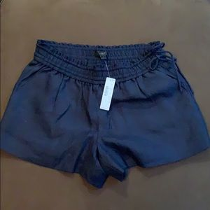 J. Crew Linen/Cotton Navy Shorts 2018 Small NEW!
